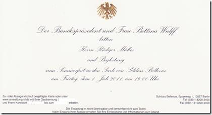 Präsidenten Einladung