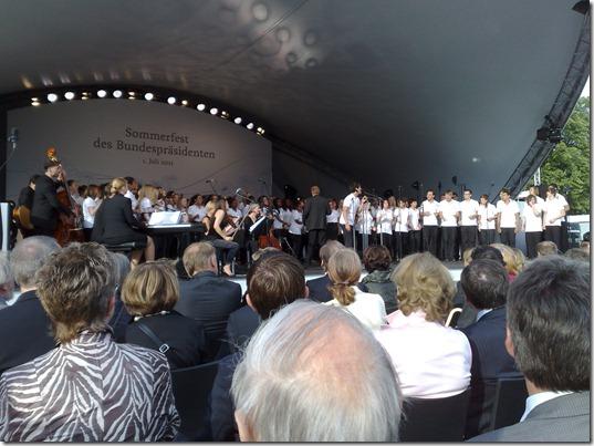 Junger Chor, auf der Tribüne